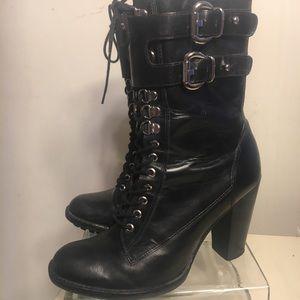 Michael Kors Lace-Up high Heel Bootie
